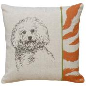123 Creations CS001P-GY Screen print pillow - Bichon