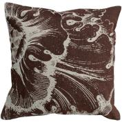 123 Creations Rossette 100% Linen Screen Print Pillow Colour