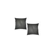 Surya P0223-1818P 46cm x 46cm Poly-Filler Decorative Pillow - Black & Silver