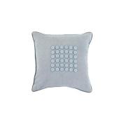 Surya BT1100-1818P 45.7cm . x 45.7cm . Polyester Filler Buttons Decorative Pillow - Aquamarine