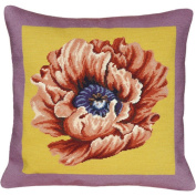 123 Creations Poppy 100% Wool Needlepoint Pillow Colour