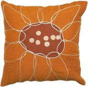 Surya FU2003-2222P Fusion 60cm x 60cm Poly-Fibre Decorative Pillow - Orange