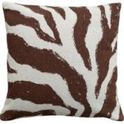 123 Creations Zebra 100% Linen Screen Print Pillow Colour