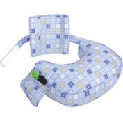 Leachco Inc Ease Back Nursing Pillow Blue 4 Squares