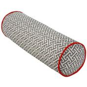 Jiti Pillows Grey and Orange Tube Maze Decorative Pillow