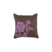 Surya P0127-1818P 45.7cm . x 45.7cm . Poly-Filler Decorative Pillow - Chocolate-Fuchsia