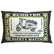 Koko Company Match Co 33cm x 50.8cm Pillow in Olive / Black