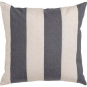 Surya Rugs JS009-2222D Oatmeal and Pewter Striped 22 x 22 Pillow w/ Down Fill - (In Down Fill