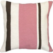 123 Creations Stripes 100% Wool Needlepoint Pillow Colour