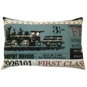 Koko Company Ticket Pillow in Blue