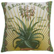 Koko Company 91802 Botanica- Pillow- 20X20- Linen- Aloe Vera Print.