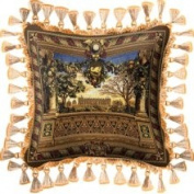Fine Art Tapestries Le Chateau de Monc Accent Pillow