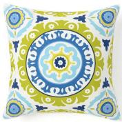 Jiti Pillows Suzani Henna Cotton Large Pillow in Lilac