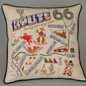 Cat Publishing Co. Cat Studio Route 66 Throw Pillow