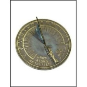 Rome Industries 2345 Father Time Garden Sundial - Brass with Verdigris