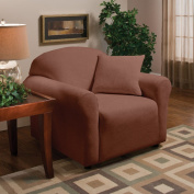 Madison Home Stretch Microfleece Chair Slipcover in Brown