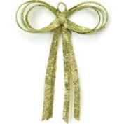 30.5cm Christmas Brites Glitter Drenched Green Bow Decoration