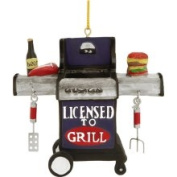 Licenced to Grill BBQ Christmas Ornament