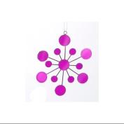 11cm Tween Christmas Purple Glass Mirrored Snowflake Christmas Ornament