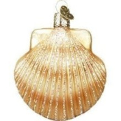 Old World Christmas Clam Shell Glass Ornament