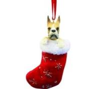 E&s Pets Boxer Stocking Ornament