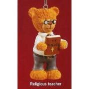 Russ Berrie Russ Very Beary Religious Teacher Christmas Ornament #32008