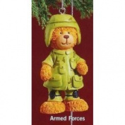 Russ Berrie Russ 7.6cm Very Beary Christmas Ornament Armed Forces
