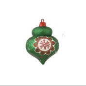 10.2cm Christmas Brites Sparkling Glittered Green Onion Christmas Ornament