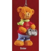 Russ Berrie Russ Very Beary #1 Sister Christmas Ornament #32008