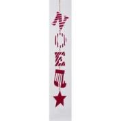 30.5cm Red & White Glitter Noel Wooden Christmas Ornament #C0939