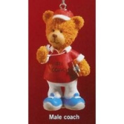 Russ Berrie Russ Very Beary Male #1 Coach Christmas Ornament #32008