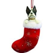 E&s Pets Boston Terrier Stocking Ornament