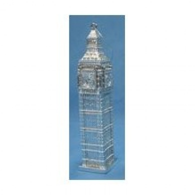 Kurt Adler 11.4cm Silver Big Ben Clock Tower Landmark Christmas Ornament