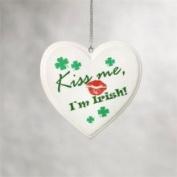 Midwest 890455 Kiss Me Im Irish Shamrock Heart Christmas Ornament