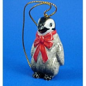 Eyedeal Figurines Penguin Chick W Red Bow Miniature Christmas Ornament Porcelain Northern Rose R257