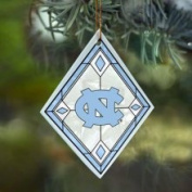 North Carolina Tar Heels Art Glass Ornament The Memory Company