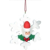 Christian Ulbricht Holiday Character on Snowflake Christmas Ornament