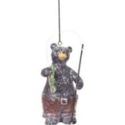 12.7cm Rustic Lodge Small Catch Fishing Bear Christmas Ornament