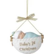Baby's 1st Christmas Blue Boy Basket Christmas Ornament