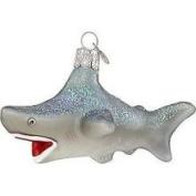 Old World Christmas 12175 Glass Ornament Shark