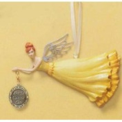 Russ Berrie Russ Friends Welcome Here Angel Christmas Ornament #31206