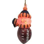 8.9cm Auburn Tigers NCAA Lighted Touchdown Snowman Christmas Ornament