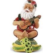Buns of Maui Hawaiian Christmas Ornament Santa on Turtle