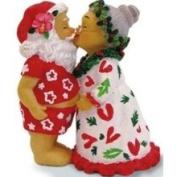 Buns of Maui Hawaiian Christmas Ornament Kissing Santas