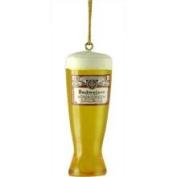 7.6cm Glass of Foamy Budweiser Beer Christmas Ornament