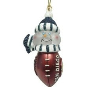 7.6cm NFL San Diego Chargers Lighted LED Football Snowman Christmas Ornament