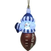 NCAA Penn State Nittany Lions LED Lighted Football Snowmen Christmas Ornament