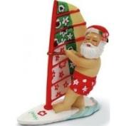 Buns of Maui Hawaiian Christmas Ornament Windsurfing Santa