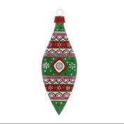 48.3cm Oversized Christmas Brites Green Fair Isle Finial Ornament