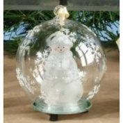 Unison Gifts Inc Light Up Christmas Ornament - White Snowman